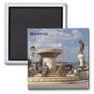 Skopje Vierkante Magneet
