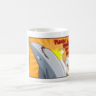 Sla een haai in het gezicht koffiemok