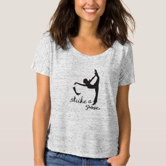 Sla stellen de Yoga Geïnspireerde Slijtage van de T Shirt