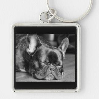 Slaap Frenchie Keychain Sleutelhanger