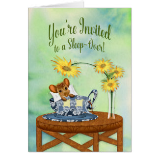 Slaap-over Uitnodiging - Muis in het Rusten van de