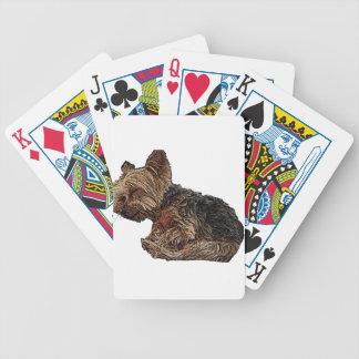 Slaap Yorkie Poker Kaarten