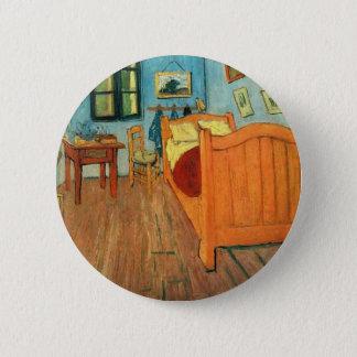 Slaapkamer in Arles door Vincent van Gogh Ronde Button 5,7 Cm