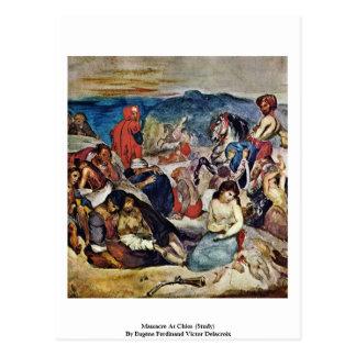 Slachting in Chios (Studie) Briefkaart