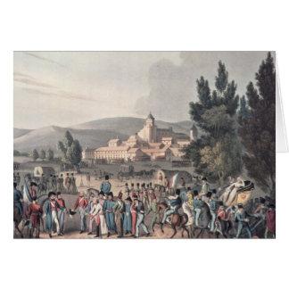 Slag die van Vittoria, in de Gevangenen brengen Wenskaart