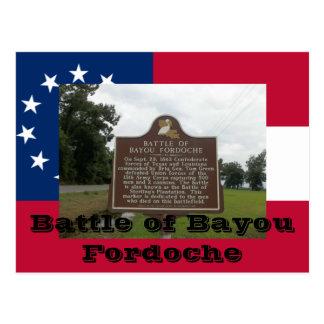 Slag van Bayou Fordoche Briefkaart