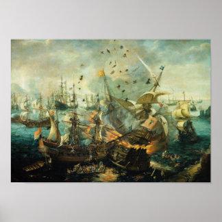 Slag van Gibraltar Poster