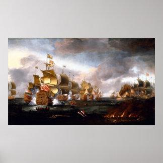 Slag van Lowestoft Poster