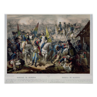Slag van Marengo veertiende Juni 1800 Poster