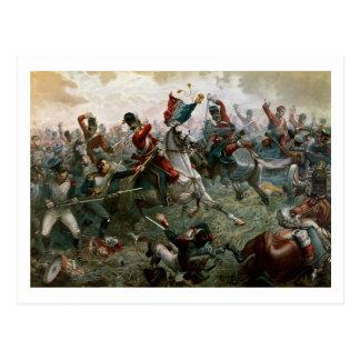 Slag van Waterloo, 18 Juni 1815, 1898 (kleur l Briefkaart