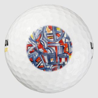 Slang in het kippenhok-Abstracte Geometrische Golfballen