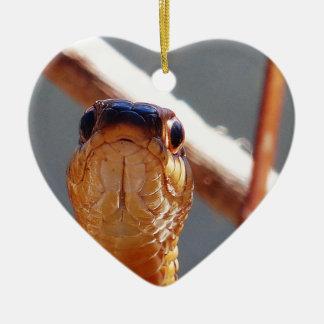 slang keramisch hart ornament
