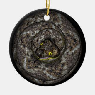 Slang Rond Keramisch Ornament