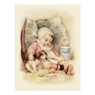 Slaperig Baby Briefkaart
