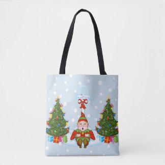 Slaperig Elf onder het Canvas tas van de Vakantie