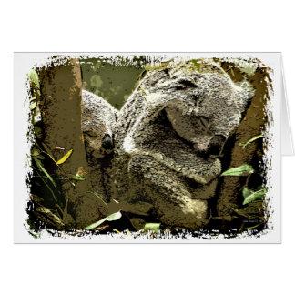 Slaperige Koala's Kaart