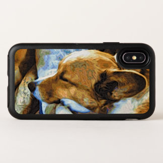 Slaperige Rode geleide Corgi OtterBox Symmetry iPhone X Hoesje