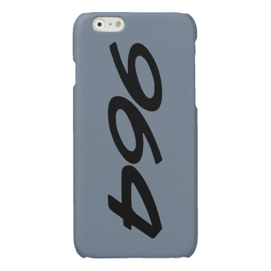 Slate grey 964 iPhone 6 hoesje glanzend