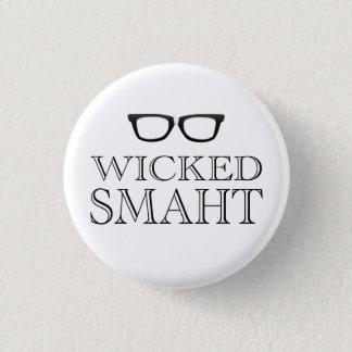 Slechte Smaht (Smart) Boston spreekt Humor Ronde Button 3,2 Cm