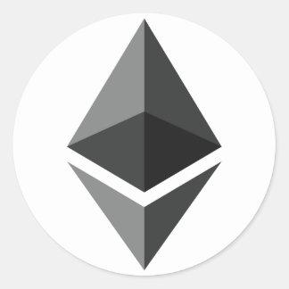 Slechts het Logo van Ethereum Ronde Sticker