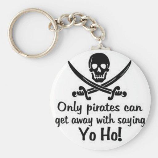 Slechts kunnen de piraten met spreuk Yo Ho weggaan Sleutel Hangers
