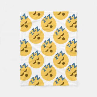 Sleepy Emoji Fleece Deken