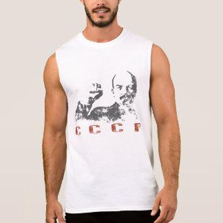 Sleeveless T-shirt met de Vintage Druk van de USSR