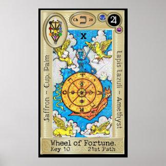 Sleutel 10 ~ van het Tarot van Deepdream van Poster