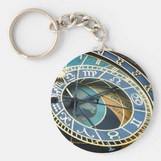 Sleutelhanger van de Klok van Praag het Astronomis