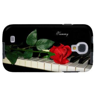 Sleutels & Rood van de piano namen de Melkweg van  Galaxy S4 Hoesje