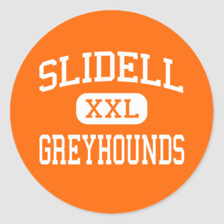 Slidell - Windhonden - Middelbare school - Slidell Ronde Sticker