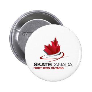Slijtage van het Logo van Canada de Noordelijke On Speld Button