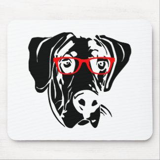 Slimme Hond Great dane met Glazen Muismatten