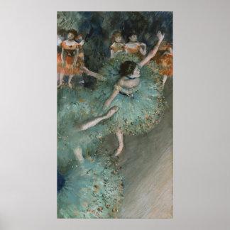 Slingerende Danser - Edgar Degas Poster