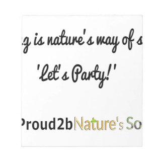 Slogan 1 van de Militairen van de natuur Notitieblok