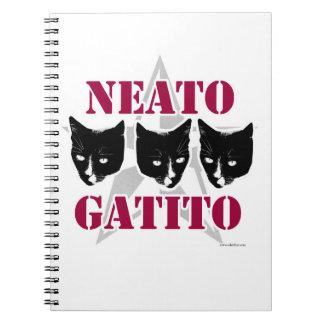 Slogan van de Kat van Gatito van Neato Sassy Notitieboek