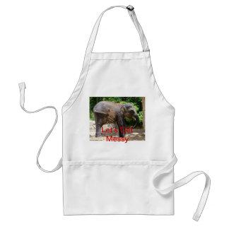 slordige olifantsschort standaard schort