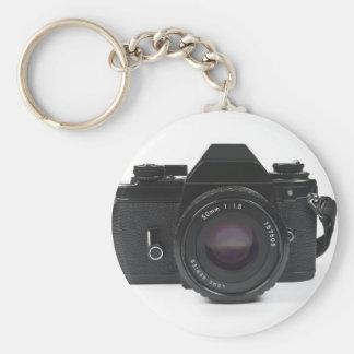 slr fotocamera - klassiek ontwerp basic ronde button sleutelhanger