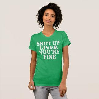 Sluit Lever u Fijn bent T Shirt