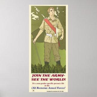 sluit me aan bij het legerposter poster