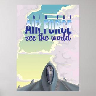 Sluit me aan bij het Poster van de Luchtmacht
