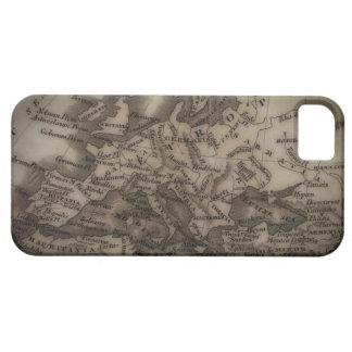 Sluit omhoog van antiek kaart van Europa Barely There iPhone 5 Hoesje