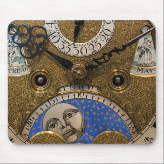 Sluit omhoog van een oude klok, Duitsland Muismat
