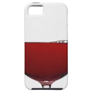 Sluit omhoog van glas rode wijn op wit tough iPhone 5 hoesje