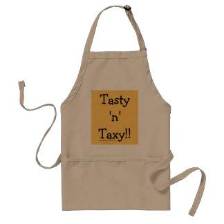 """Smakelijk """"n"""" Taxy! De Slogan van de Woorden van Standaard Schort"""