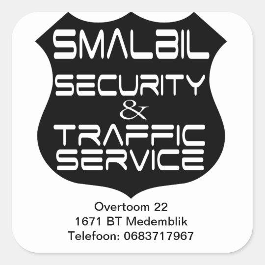 Smalbil Security & Traffic Service Vierkante Sticker