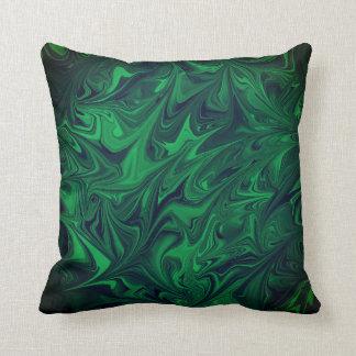 Smaragdgroen donker marmer marmeren abstract groen sierkussen
