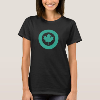 Smaragdgroene Canadese Roundel T Shirt