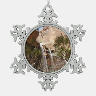 Smaragdgroene Herfsten I van de Pool van Nationaal Tin Sneeuwvlok Ornament