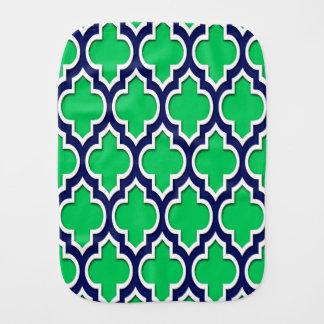 Smaragdgroene, Marineblauwe Witte Marokkaanse Spuugdoekje